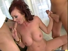 Huge titted milf Felony Forplay sucking cock and gets her wet cunt licked
