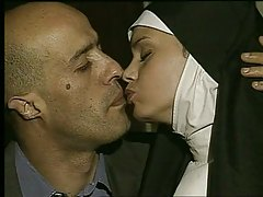 Nun gets fucked and takes facial - Holy god!