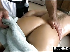 Gay rubs straight guy during massage