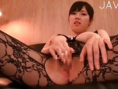 Japanese in lace lingerie