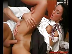Nice Busty Stewardess Fucks The Passionate Captain On The Board Of Plane