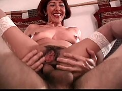 hairy mature take cock cazzo in anal culo troia