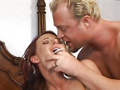 Eve Nicholson gets a rough ass fucking from a mean cock