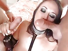 Carmella Bing Is Sucking Some Balls Deep Cock From These Two Guys