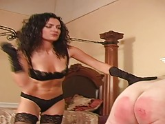 Caned by Mistress in Stockings