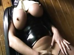 Busty nun try anal and facial