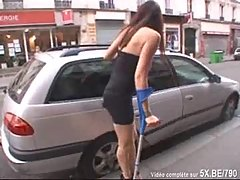 French wife shared in a gangbang by her husband
