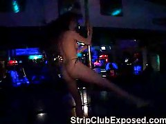 Hot Stripper In Black Thong
