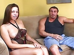Busty Chick Fucked By Muscled Gu...