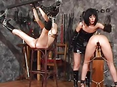 Lesbian fetish love in the dungeon