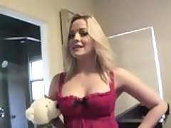 Horny chick Alexis Texas looks amazingly hot in her sexy pink lingerie
