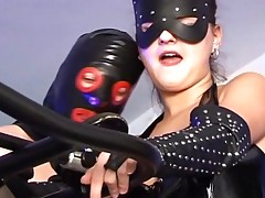 Fetish babe is slammed by a masked man