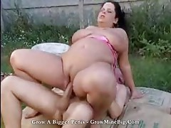 Plumper Brunette Gets Her Pussy Fucked By The Repairman Outdoors