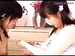 2 Young Girls Sucking Nipples Licking Fingering Pussies On T...