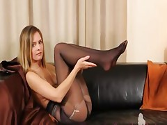 Black Pantyhose And Ultra Hot ...