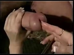 Two fingers in penis
