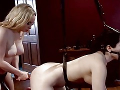 Dominatrix Aiden Starr loves toying her partners ass