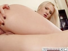 Shy Swedish blonde anal creampie after assfuck