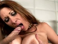 Tiffany Mynx recieves a warm jizz on her big balloons