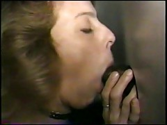 Swinger wife slut gloryhole in the adult cinema - snake