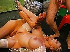 Gangbang and pissing session