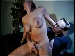 Nerdy Four-eyed Guy Drilling A Beauty With Trimmed Snatch
