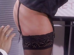 Sexy secretary Alanah Rae double fucked in the office
