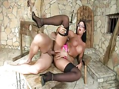 In A Dungeon, Hot Brunette Chick Angelica Heart Makes Him Cum Twice