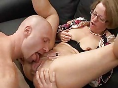 Mature Red Shoes Take Assfuck Fist Anal Pussy Glasses Troia
