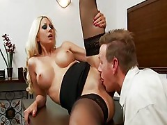 Secretary With Nice Tits Is Getting In A Little Overtime At Cock Office